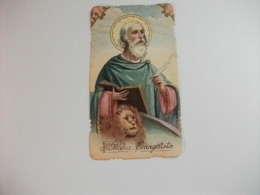 SANTINO HOLY PICTURE IMAGE SAINTE SAN MARCO EVANGELISTA - Religione & Esoterismo