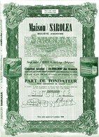 MAISON SAROLEA; Part De Fondateur - Cars