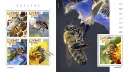 Z08 GB190303ab Guinea Bissau 2019 Bees MNH ** Postfrisch - Guinée-Bissau