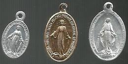 Religione, 3 Medagliette Vergine Maria, Mist. Cm. 1/2 Ca. - Altri