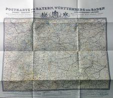Postkarte Von Bayern, Württemberg Und Baden Nebst Teilen Der Angrenzenden Länder - [1] ...-1849 Prephilately