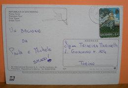 Storia Postale 2002 San Marino Isolato Euro 0,41 Anno Internazionale Delle Montagne Su Cartolina - San Marino