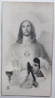 Image Pieuse Souvenir  1ère Communion Bertrande Montigny St Jean Baptiste De Belleville 31 Mai 1945 AN 232 - Images Religieuses