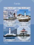Z08 ST190302a Sao Tome And Principe 2019 Lighthouses MNH ** Postfrisch - Sao Tomé E Principe