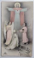 Image Pieuse Souvenir  Communion Solennelle Elmianne Blanchet St Aignan D'Arthies 18 Juin 1950 Art Chap - Images Religieuses