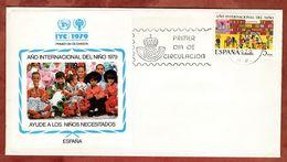 FDC, Jahr Des Kindes, Barcelona 1979 (72995) - FDC