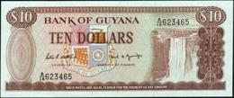 GUYANA - 10 Dollars Nd.(1966 - 1992) UNC P 23 D - Guyana