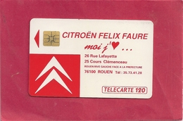 F172 . CITROEN ROUEN   .120 U .   . COTE 19 € - France