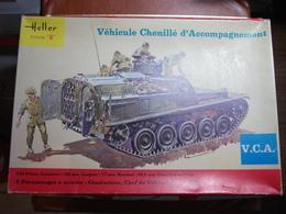 Maquette Plastique - Véhicule Chenillé D'Accompagnement V.C.A. AMX 13 Au 1/35 - Heller N°786 - Véhicules Militaires
