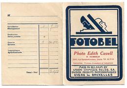 Pochette De Photos (vide)  *  Fotobel  (Photo Edith Cavell, Rue Vanderkindere, 344,   Uccle) - Other