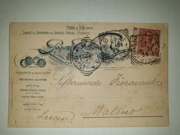 CP283-Cartolina Pubblicitaria Paganini Villani - Coloniali, Droghe, Medicinali - Milano - 1900-44 Victor Emmanuel III
