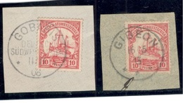 GERMAN SOUTHWEST AFRICA1906-13: Michel26a,b Used On Pieces Cat.Value$23 - Kolonie: Deutsch-Südwestafrika