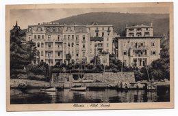 1947 YUGOSLAVIA, CROATIA, OPATIJA, ABBAZIA-HOTEL STRAND, STAMP: JUGOSLAV ARMY MILITARY COMMAND - Kroatien