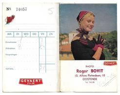 Pochette Photos (vide)  *  Gevaert Film (Photo Roger Bovit, Alfons Pieterslaan, 10, Oostende) - Oostende