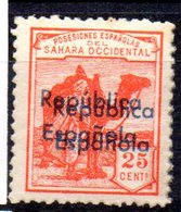 Sello Nº 40bhh  Sahara - Sahara Español