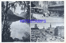 111274 DENMARK DANMARK NORWAY MULTI VIEW CIRCULATED TO ARGENTINA POSTAL STATIONERY POSTCARD - Postal Stationery