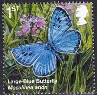 2018 GB     Reintroduced Species -  Large Blue Butterfly (Maculinea Arion)  1st  SG 4075Used - 1952-.... (Elizabeth II)