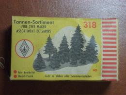 Décor Pour Train électrique - Assortiment De Sapins - Tannen-Sortiment - Faller HO N°318 - Décors
