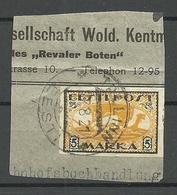 Estland Estonia 1919 Michel 13 X (white Paper) O Auf Briefausshnitt - Estland