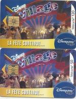 2 TELECARTES . F 1298 A & 1299 . DISNEY  . COTE POUR LES 2 = 8 € - France