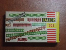 Décor Pour Train électrique - Assortiment De Barrières - Zaunsortiment - Faller HO N°521 - Streckendekoration