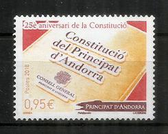 Constitucio Del Principat D'Andorra, Un Timbre NEUF ** Année 2018 - Nuovi