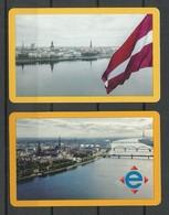 RIGA LATVIA 2019 Fahrkarten City Transport Card Tickets, 2 Various Designs - Transportation Tickets