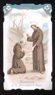 SANTINO ORIGINALE D'EPOCA - BENEDIZIONE DI S. FRANCESCO D'ASSISI - HOLY CARD ( H56 ) ED. GUERRA - BARI - Imágenes Religiosas
