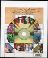 BLOK 163** Muziek In B-Groot / Bloc 163 MNH Musique En B-Majeur 3849/58** J.Brel, Adamo, W.Tura,dEUS Etc... - Blocks & Sheetlets 1962-....