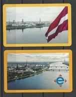 RIGA LATVIA 2019 Fahrkarten City Transport Card Tickets, 2 Various Designs - Bus