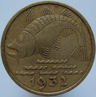 Germany DANZIG 10 Pfennig 1932 VF / XF - [ 3] 1918-1933 : Weimar Republic