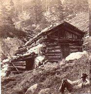 AK-1536/ Samerhütte Berghütte  Kärnten  Stereofoto V Alois Beer ~ 1900 - Stereo-Photographie