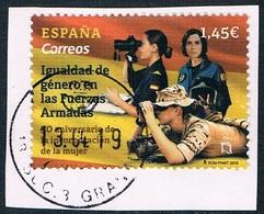 Espagne - 30e Anniversaire De L'égalité Des Sexes Dans Les Forces Armées (année 2018) Oblit. - 2011-... Afgestempeld