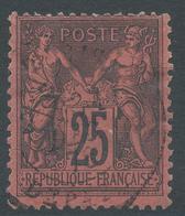 Lot N°48801  N°91, Oblit Cachet à Date De PARIS DEPART - 1876-1898 Sage (Type II)