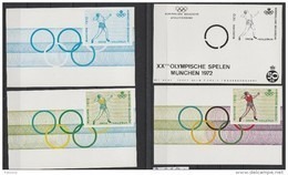 E 119  4 Kleurproeven/4 épreuves De Couleur Lancement Du Poids ** - Commemorative Labels
