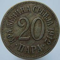 Serbia 20 Para 1912 VF / XF - Serbia