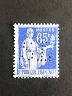 FRANCE S N° 365 Type Paix SL 131 Perforé Perforés Perfins Perfin !! Tres Bien - France