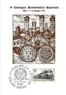 ITALIA - 1971 ASTI 4° Convegno Numismatico Nazionale Su Cartolina Speciale - Zecca Di Asti Scudo Carlo D'Orleans - Buste