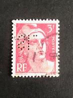 FRANCE S N° 716 Marianne De Gandon SL 123 Perforé Perforés Perfins Perfin Tres Bien - France