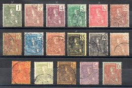 INDOCHINE - YT N° 24 à 40 - Neuf * /obl - Cote: 542,00 € - Indochine (1889-1945)