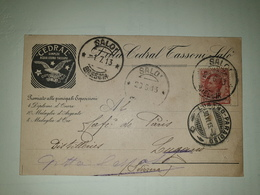 CP311-Cartolina Pubblicitaria Cedarl Simply - Acqua Cedro Tassoni - Salò - 1900-44 Vittorio Emanuele III
