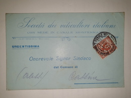 CP317-Cartolina Pubblicitaria Società Dei Viticultori Italiani - Casale Monferrato - 1900-44 Vittorio Emanuele III