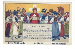 21826 -  Fête Nationale 1er Août Hymne National Bundesfier Au Profit Des Familles Nécessiteuses De Vallorbe - Suisse