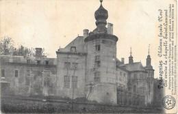 Trazegnies NA107: Château. Façade Nord. Au Centre La Chapelle Saint-Laurent 1919 - Courcelles