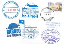 """W30 RUSSIA 2001 Ice Base """"BORNEO"""". Ice Airport. CEPROLEX. Aviation - Voli Polari"""