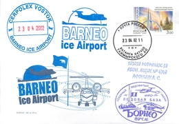 "W30 RUSSIA 2001 Ice Base ""BORNEO"". Ice Airport. CEPROLEX. Aviation - Polar Flights"