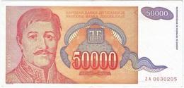 Yugoslavia 50000 Dinara 1994 Pk 142 R REPLACMENT (za) Firma 18 UNC - Yugoslavia