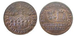 02256 GETTONE TOKEN JETON LOCAL MUNICIPAL STADT BURGERFEST 1984  RIETBERG - Germany