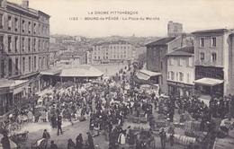 CPA 26 @ BOURG DE PEAGE - La Place Du Marché En 1908 - Autres Communes