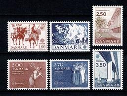 Danmark 1981/1983 EUROPA  Yv. 733/34**, 752/53**, 784/85** Mi 730/31**, 749/50**, 781/82** - Danemark